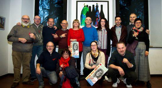 I fotografi del Circolo con l'assessore Adele Fagnani e il presidente del CAA Claudia Sala