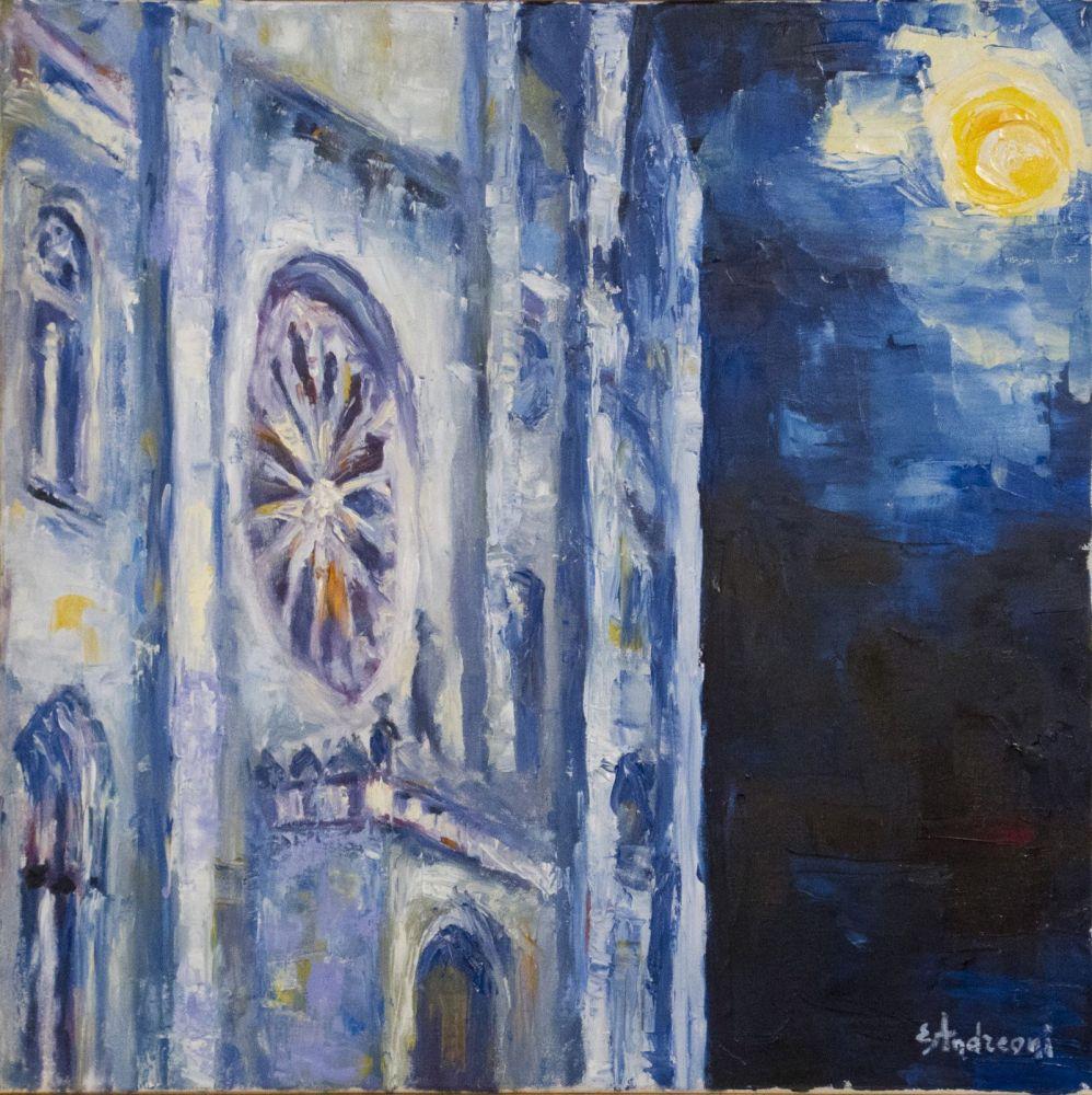 Duomo di Monza ( olio su tela 50 x 50 )