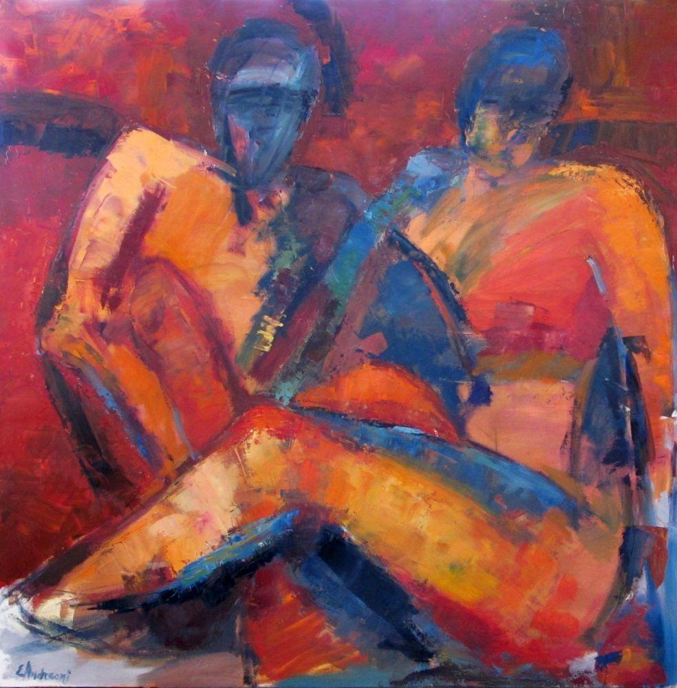 La Coppia ( olio su tela 80x80 )