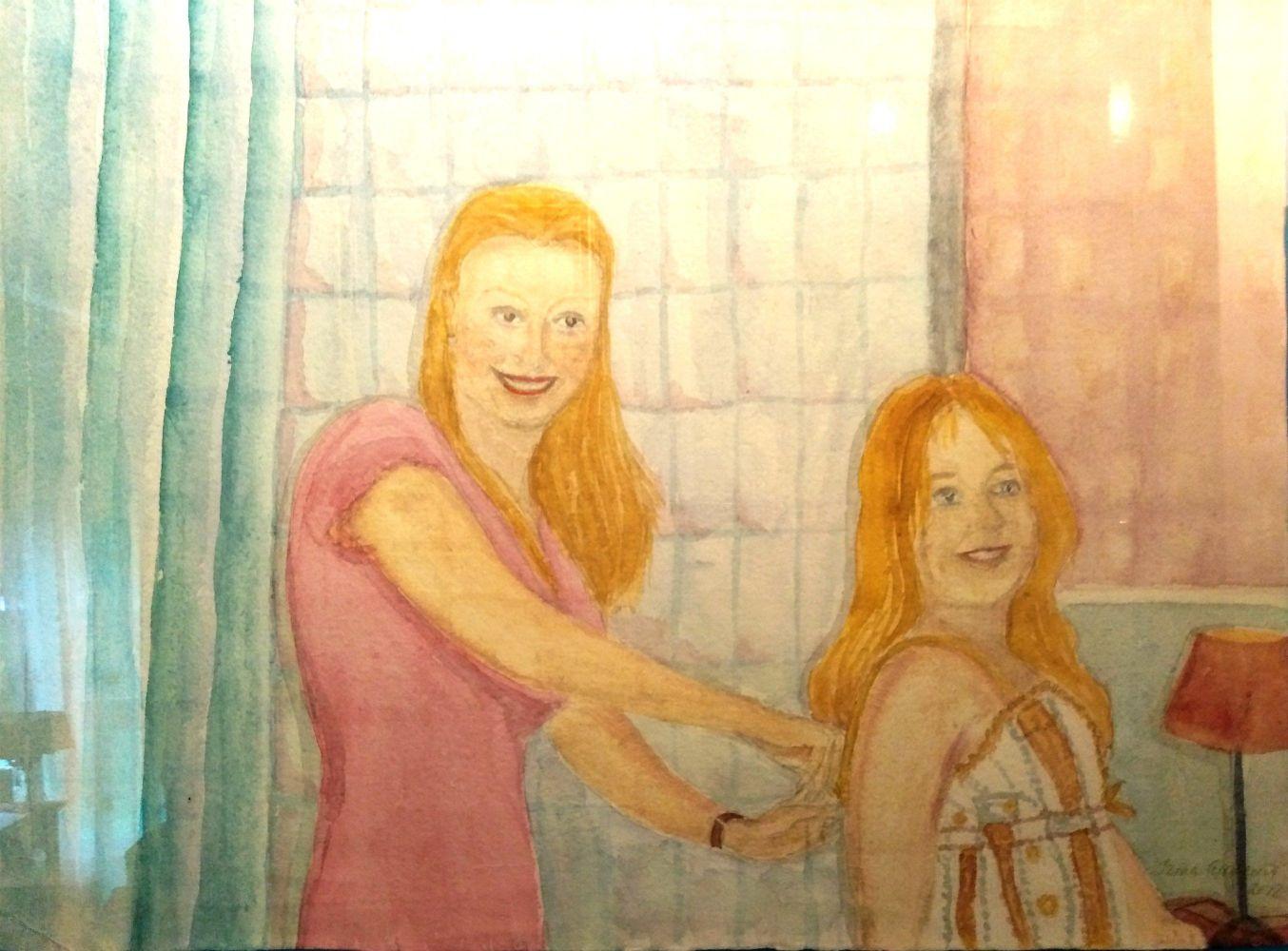 Andreeva Irina - La mamma pettina la figlia