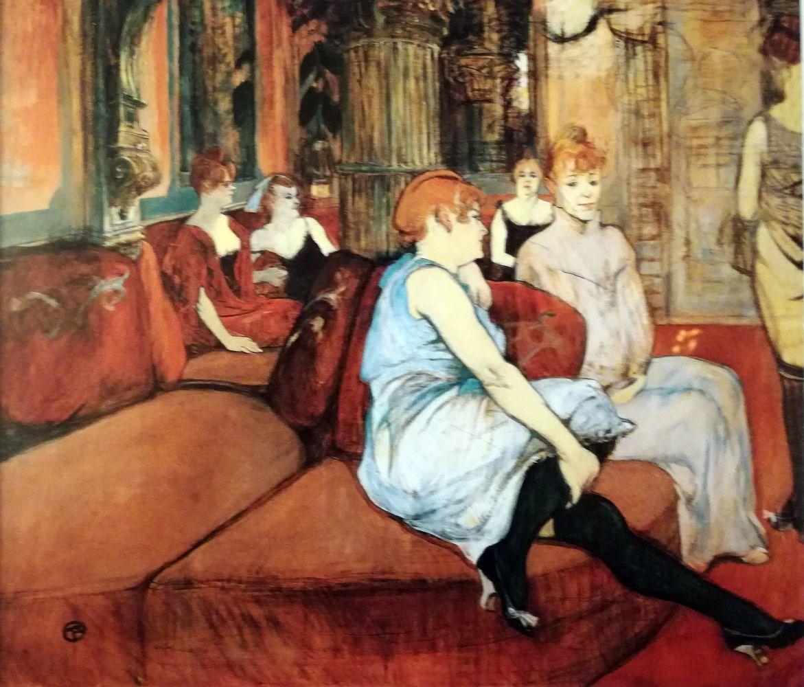 Au salon del rue des Moulins - 1894
