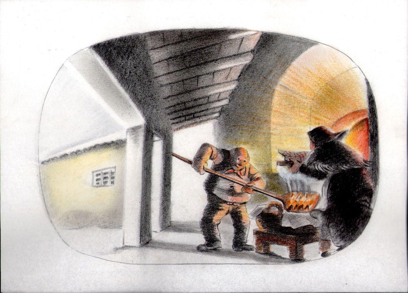 """Alcuni disegni di Giovanni Ferrari che compongono il suo corto animato """"Amricord"""""""