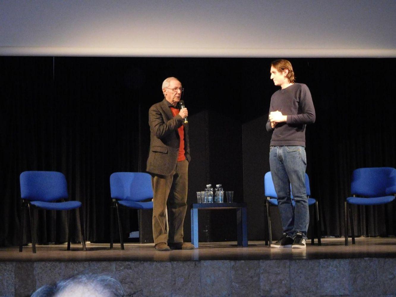 Il critico cinematografico Simone Soranna con Bruno Bozzetto