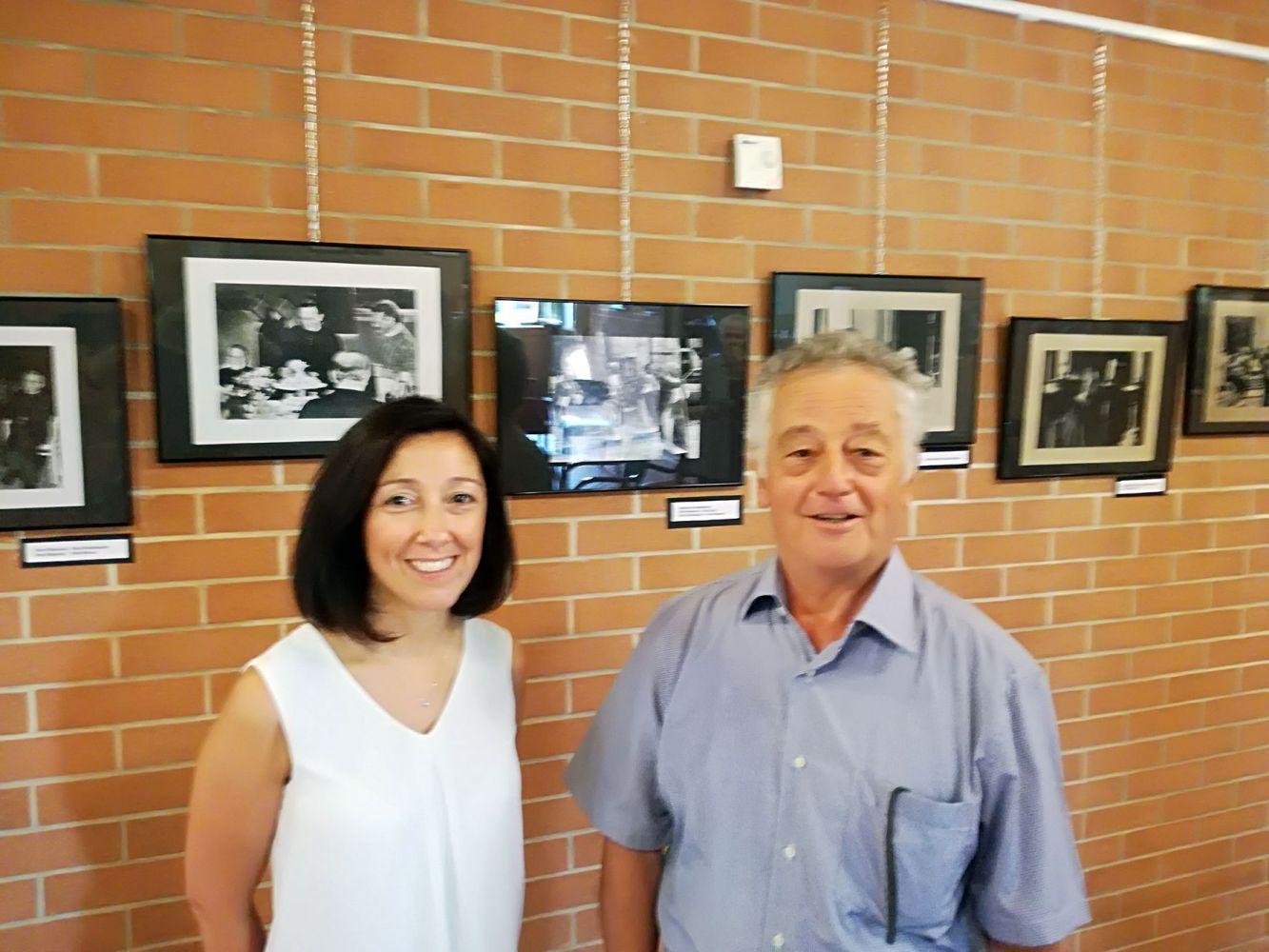 Barbara Sacchetti (Villa San Clemente) e Gilberto Galbiati (socio CAA)