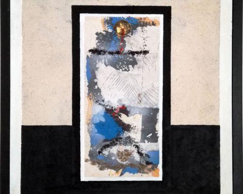 Autore: Franco Nannini (Villasanta - MB)  Titolo e data: Struttura (2012) - Tecnica: mista - Motivo e data acquisizione: Donazione dell'autore in occasione della mostra retrospettiva presso il CAA   - ottobre 2016. Ubicazione: sede CAA