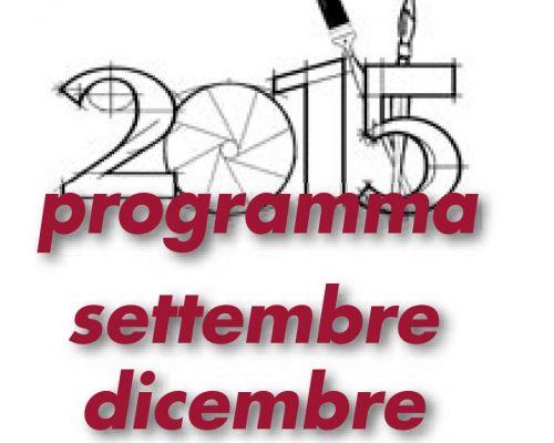 Programma attività settembre/dicembre 2015